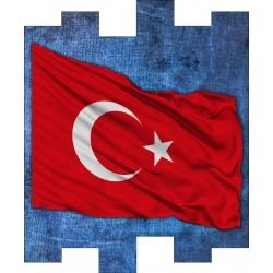 Türk Bayrağı Özel Tasarım Wallex Duvar Paneli