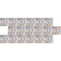 Mavi Karo Desenli Strafor Duvar Paneli | WALL - 702