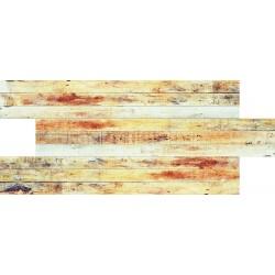 Kırmızı Tahta Desenli Strafor Duvar Paneli | WALL - 718