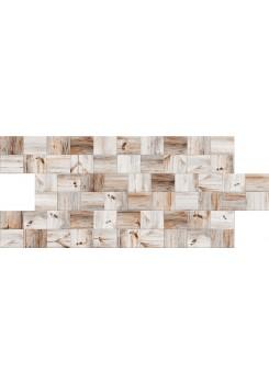 Mozaik Tahta Desenli Strafor Duvar Paneli | WALL - 724