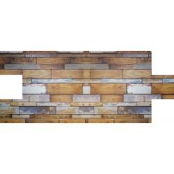 Tahta Desenli Strafor Duvar Paneli | WALL - 742